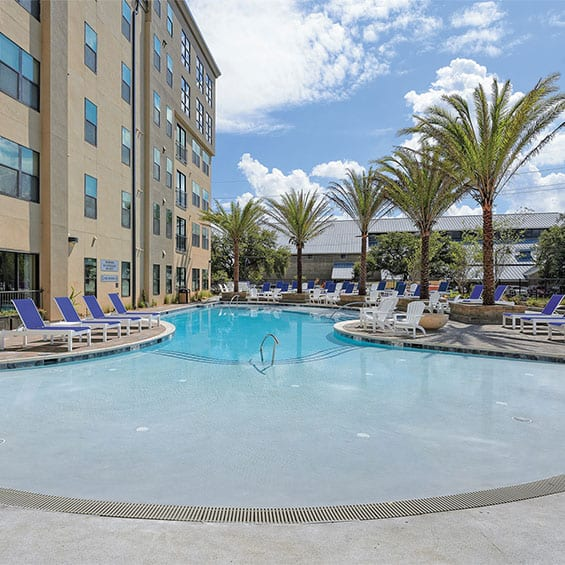 Pool Side View – Ion Baton Rouge